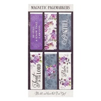 Magnetic Bookmark (Set of 6) Purple: Be Still and Know Psalm 46:10