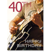 Electric Guitarist 40th Birthday Card
