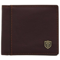 Wallet: Genuine Leather Burgundy Cross