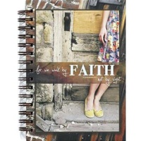 Journal - For We Walk By Faith Spiral Bound