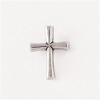 Lapel Pin 100% Lead Free Pewter Round Flared Cross