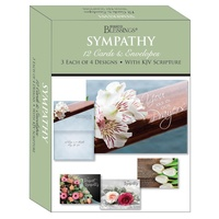 Boxed Cards: Sympathy Floral Bouquets (12 cards, 3 each of 4 designs)