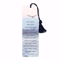 Bookmark With Tassel - But Those That Wait Upon The Lord