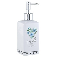 Ceramic Soap Dispenser White: It Is Well