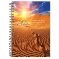 Spiral Hardcover Journal: Footprints