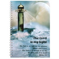 Spiral Softcover Journal: Lighthouse, the Lord is My Light