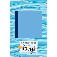 KJV Study Bible for Boys, Blue/Light Blue Duravella