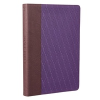 KJV Large Print Thinline Bible Brown Purple Red Letter Edition