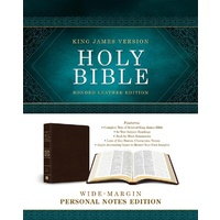 KJV Wide Margin Personal Notes Bible Brown (Red Letter Edition)
