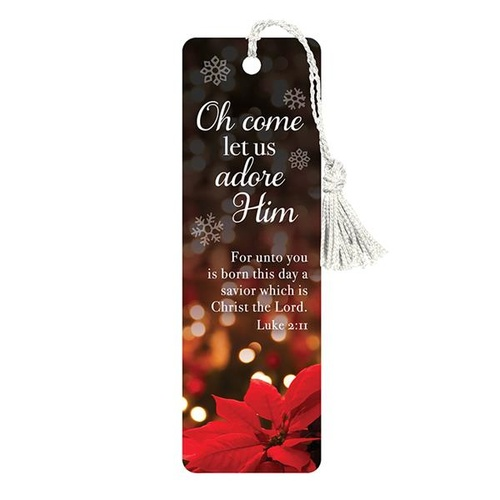 Bookmark with Tassel: Oh Come Let Us Adore Him