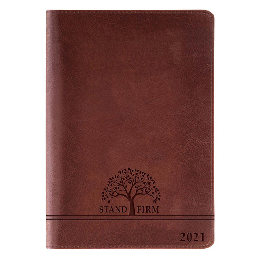 2021 12-Month Executive Diary/Planner: Stand Firm (Zippered)